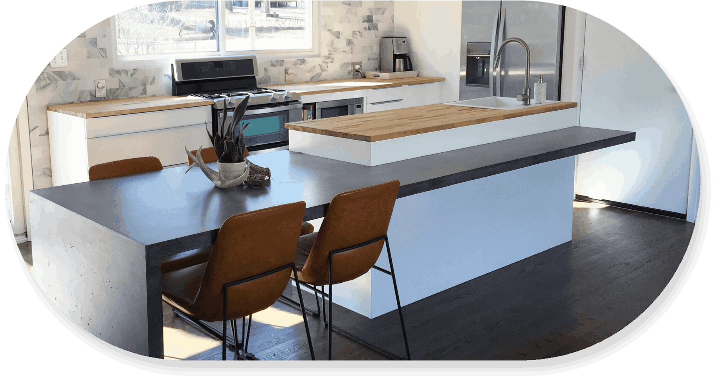 concrete countertops oval png