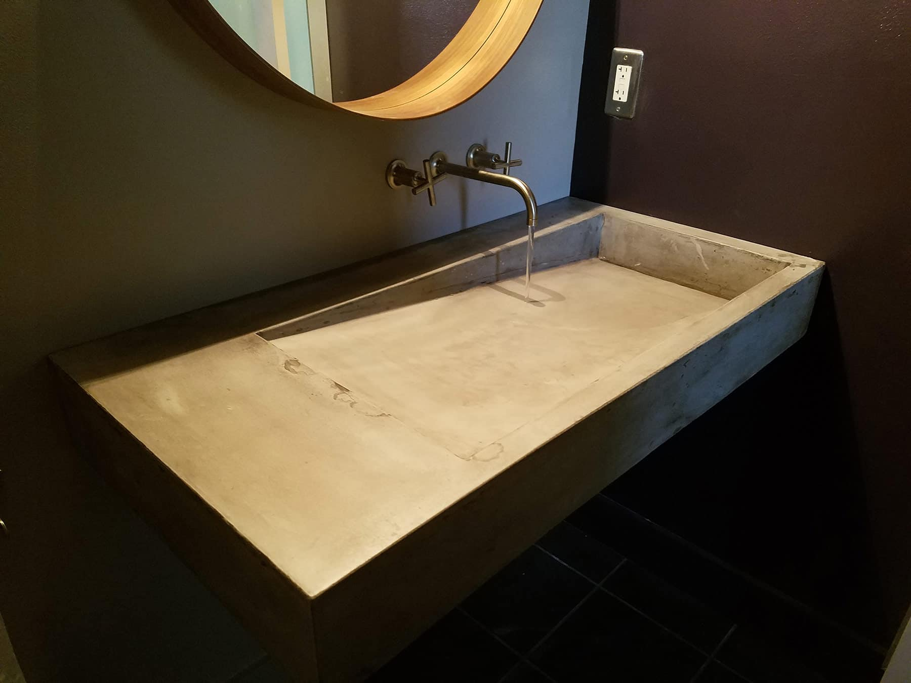 concrete slant sink