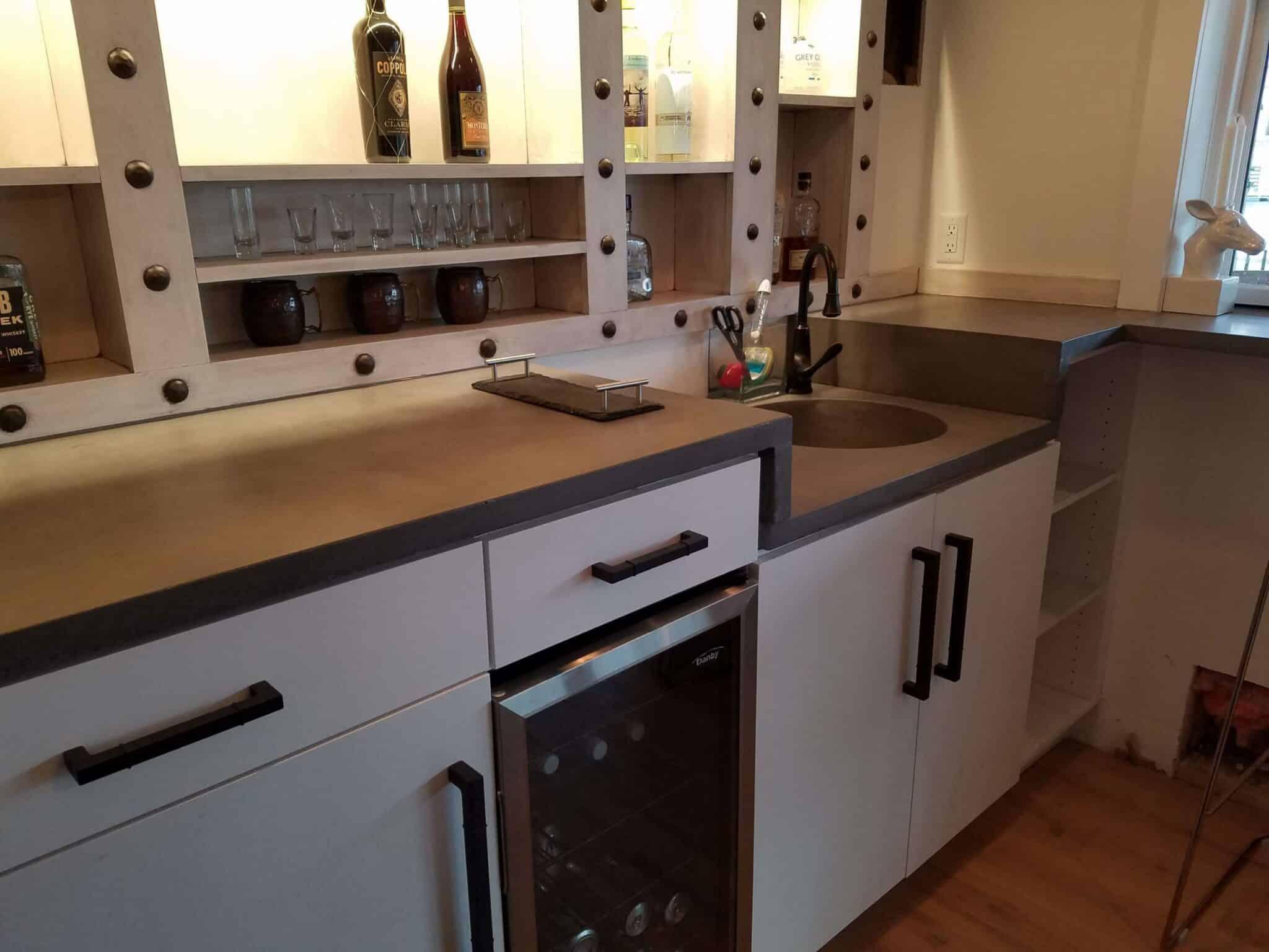 Battleship gray, kitchen counter top