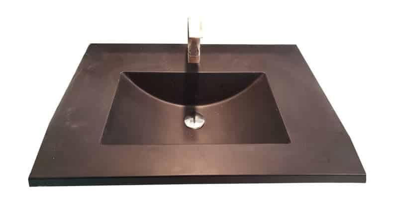 copper tinted concrete barrel large basin sink PNG