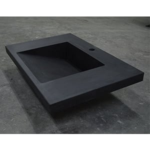 black concrete ramp sink slot drain sink on shop floor