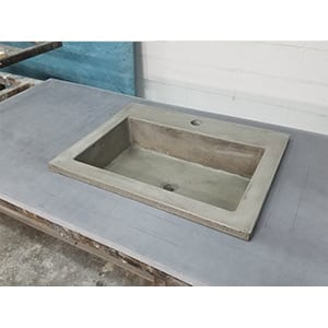 concrete vessel drop in sink