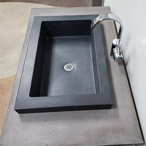 concrete vessel sink