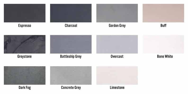 Color options for sinks