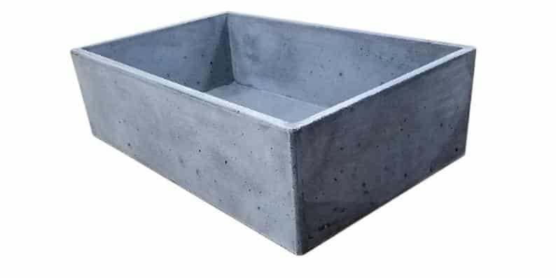 Apron Front Concrete Sink
