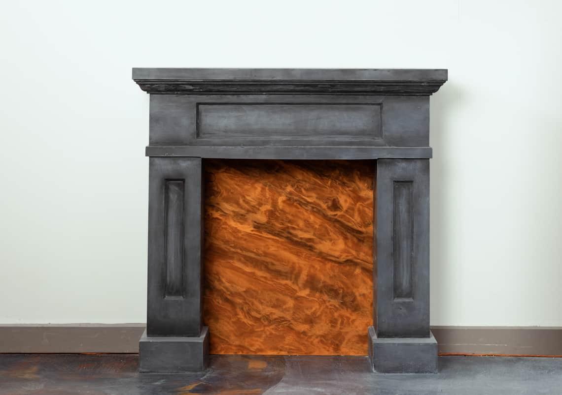 concrete fireplace surround