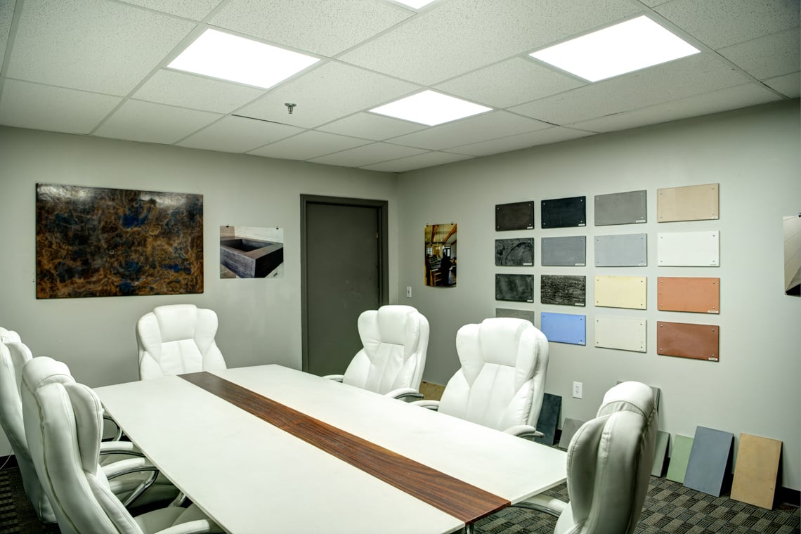 Concrete Designs Conference Room