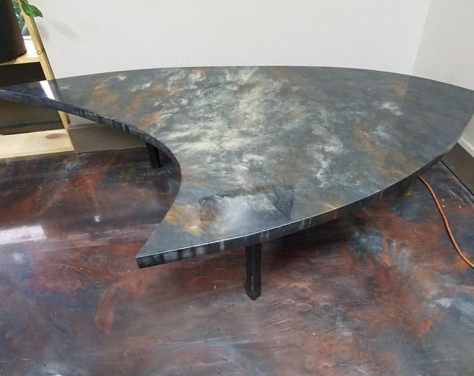 Concrete Coffee Table Fiber Optic