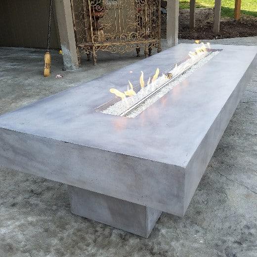 concrete modern firepit