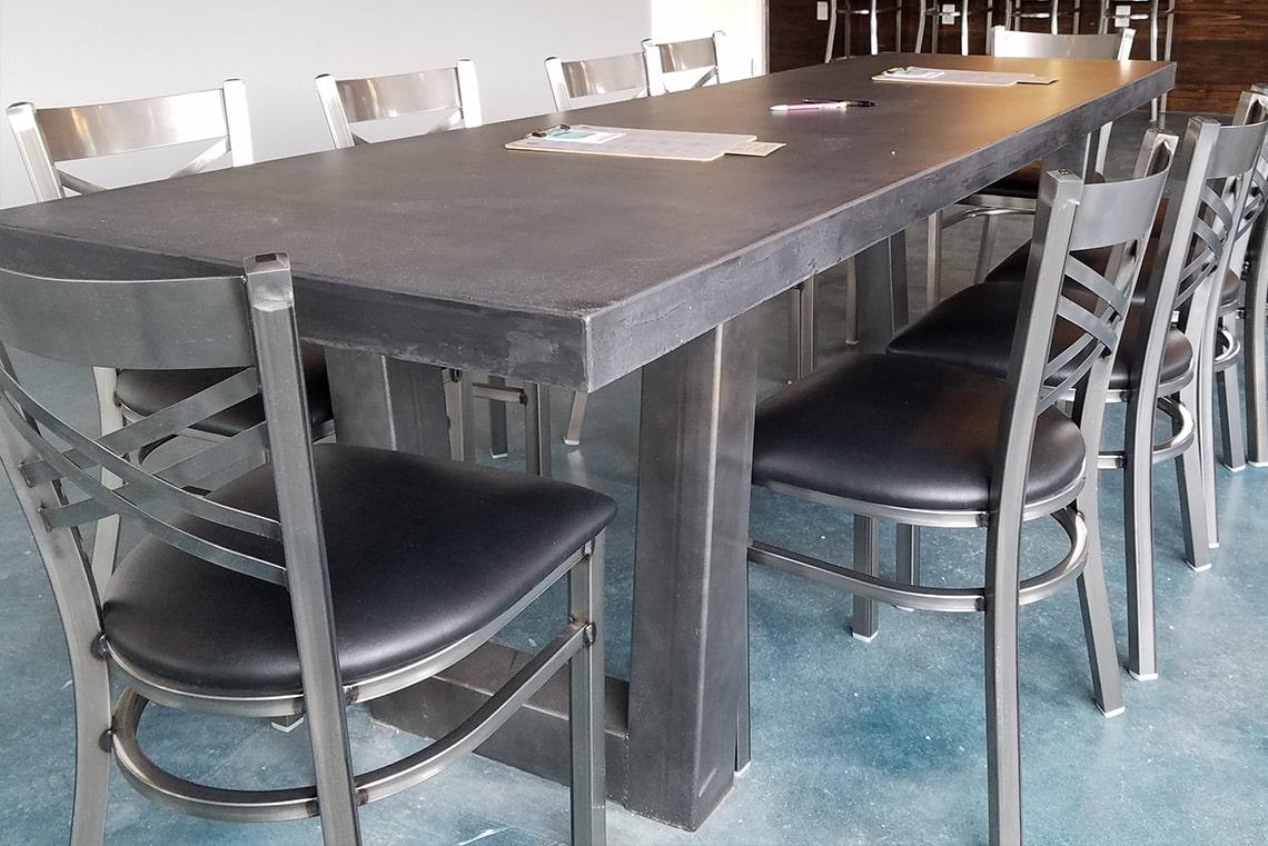 Custom Concrete Table Black