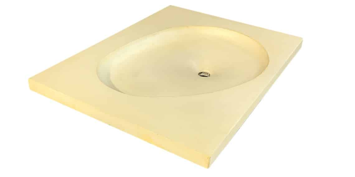Concrete Sink with Egg Shpae, Single Basin