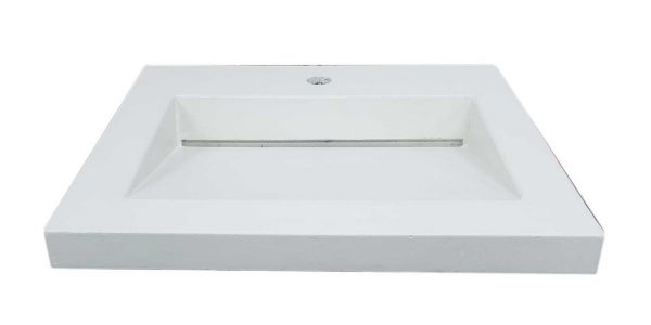 Shallow Concrete Ramp Sink with Slot Drain